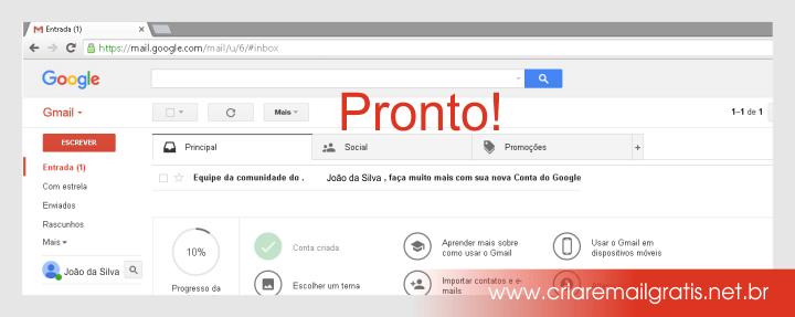 Criar Email Grátis Gmail - Passo a Passo