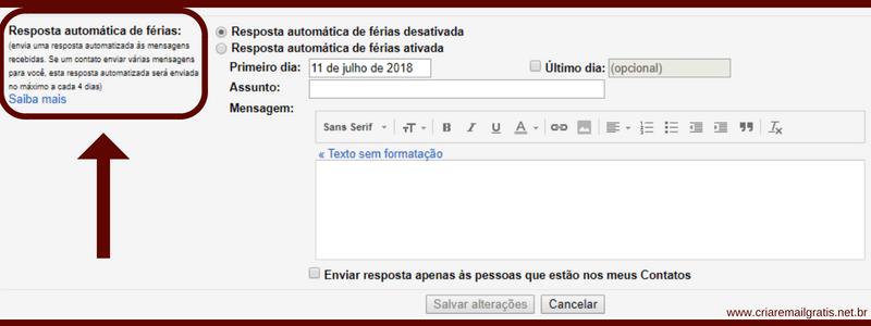 Resposta Automática no Gmail